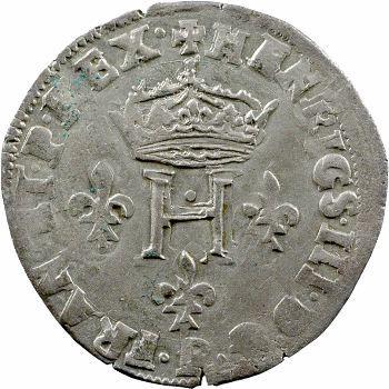 Henri III, double sol parisis, 2e type, 1585 Dijon