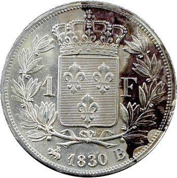 Charles X, 1 franc, 1830 Rouen