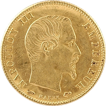 Second Empire, 5 francs tête nue, grand module, 1860/50 Paris