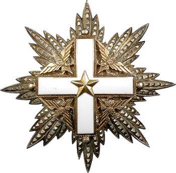 Italie, plaque de Grand Croix de l'Ordre National du Mérite