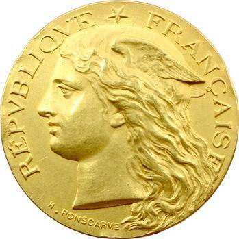 IIIe République, concours de sériciculture des Basses-Alpes, en or, par Ponscarme, 1893 Paris