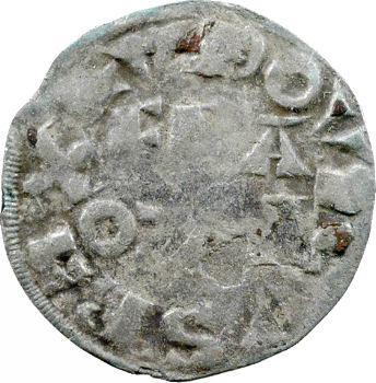 Louis VII, denier 3e type, variété R(E)X, Paris
