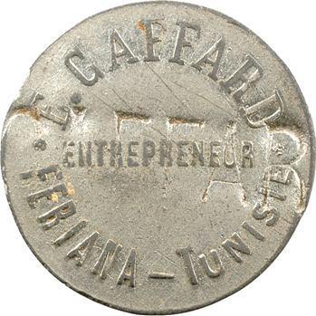 Tunisie, Feriana, 0,05 franc, cantine E. Caffard, s.d