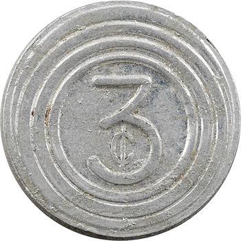 Chine (Comptoirs Français de), Shangai, China General Omnibus Company, 3 cents, s.d. (1939-1943)