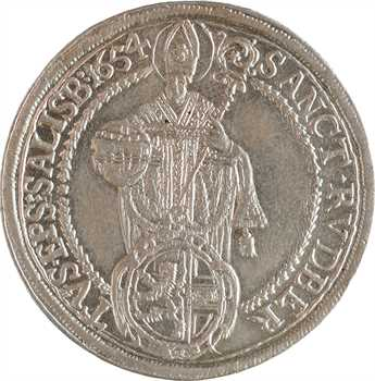Autriche, Salzbourg (archevêché de), Guidobald von Thun, thaler, 1654 Salzbourg
