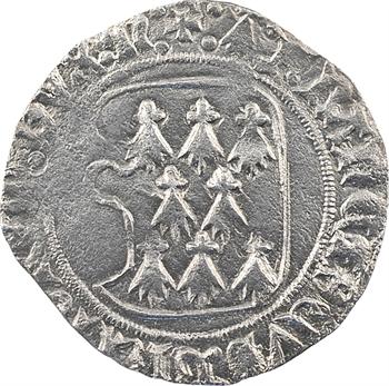 Bretagne (duché de), François Ier, blanc à la targe, s.d. Nantes
