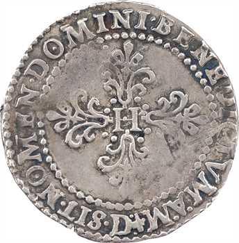 Henri III, demi-franc au col plat, 1587 Lyon