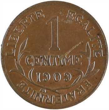 IIIe République, 1 centime Daniel-Dupuis, 1909 Paris