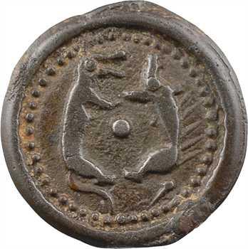 Suessions, potin aux animaux affrontés, classe II, c.60-50 av. J.-C.