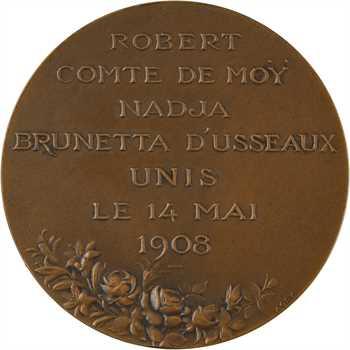 IIIe République, mariage du comte de Moÿ et Nadja Brunetta d'Usseaux, 1908 Paris