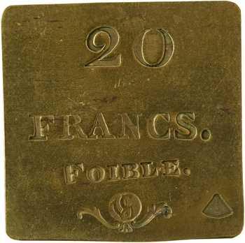 Louis-Philippe Ier, poids monétaire de 20 francs foible, s.d. (c.1835)