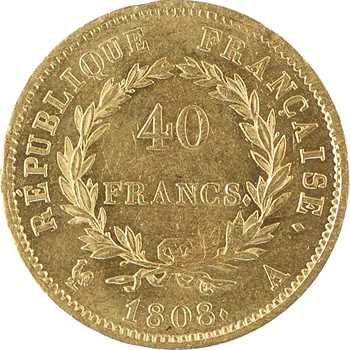 Premier Empire, 40 francs République, 1808 Paris