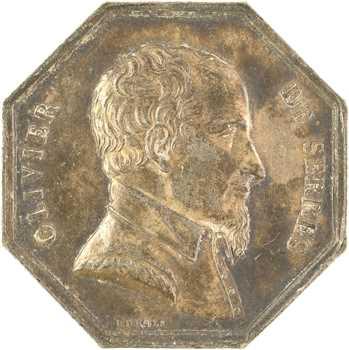 Haute-Garonne, Société d'Agriculture, Olivier de Serres, jeton de récompense, s.d. (après 1880) Paris