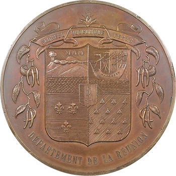 La Réunion, médaille du Département, s.d. (1980) Paris