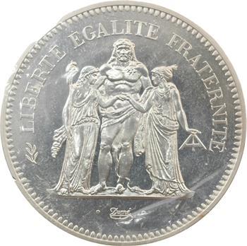 Ve République, piéfort de 50 francs Hercule, 1980 Pessac