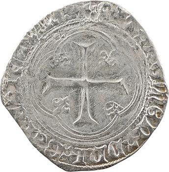 Charles VIII, blanc à la couronne (molettes/molettes et REX* et BENEDICTVM:), Châlons-en-Champagne