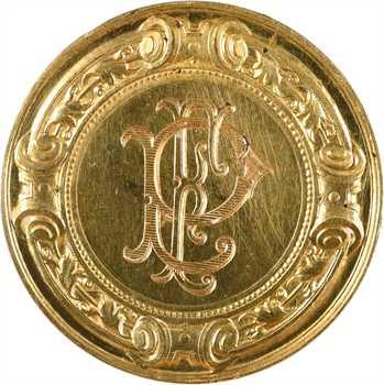 Vernon (F.) : médaille de mariage en or, 1904 Paris