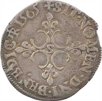Charles IX, sol parisis 1er type, 1565 Troyes