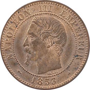 Second Empire, deux centimes tête nue, 1853 Strasbourg