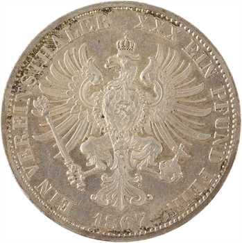 Allemagne, Prusse (royaume de), Guillaume Ier, thaler, 1867 Berlin