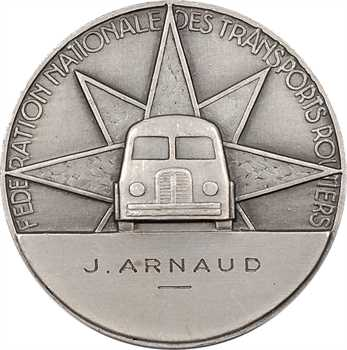 Pelletier (R.) : la Route (Fédération des Transports Routiers), en argent, s.d. Paris