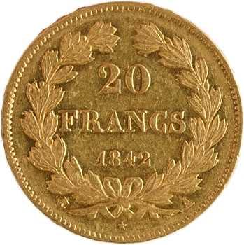 Louis-Philippe Ier, 20 francs Domard, 1842 Paris