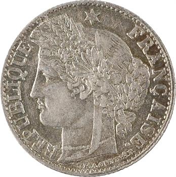 IIIe République, 50 centimes Cérès, 1871 Paris