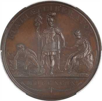 Russie, Paul Ier, Alexandre Souvorov libérateur de l'Italie, par Küchler, 1799, PCGS SP63BN