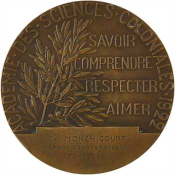 Colonies françaises, Académie des sciences coloniales, par Descomps, 1922 Paris