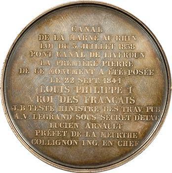 Louis-Philippe Ier, pose de la première pierre du pont-canal de Liverdun, 1841 Paris