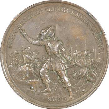 Italie, Umberto I, cinquantenaire de la création des Bersaglieri par Alessandro La Marmora, 1886