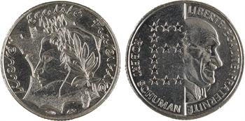 Ve République, lot de 10 francs Jimenez et 10 francs Schuman, 1986 Pessac