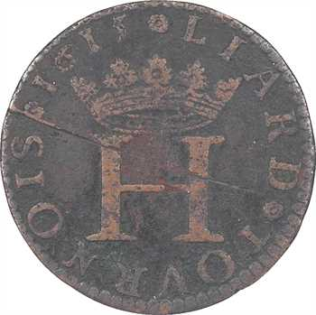 Sedan (principauté de), Henri de La Tour, liard 8e type, légende française, 1615 Sedan