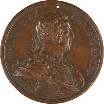 Louis XV, restitution de la ville de Bâle à la Suisse, par Dassier, 1740
