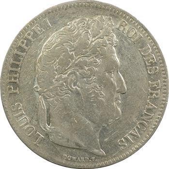 Louis-Philippe Ier, 5 francs IIe type Domard, 1837 Bordeaux
