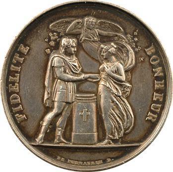 Louis XVIII, médaille de mariage, Marcote et Zanetti, 1819 Paris