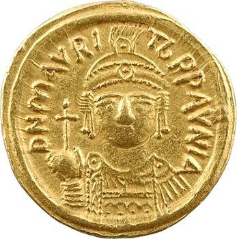Maurice Tibère, solidus, Carthage, An 11 = 592-593