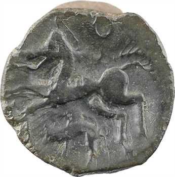 Aulerques Éburovices, bronze au cheval et au sanglier, c.60-50 av. J.-C.