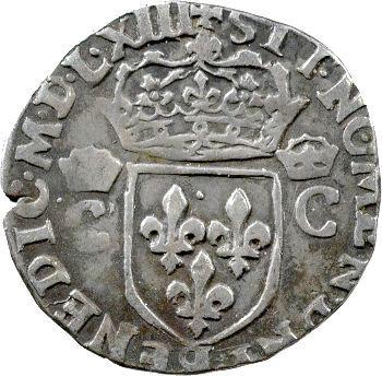 Charles IX, demi-teston 2e type, 1563 Rennes