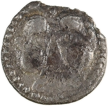 Andécaves, obole au sanglier-enseigne à gauche, proche des types du Pont de la Chaloire, c.80-50 av. J.-C