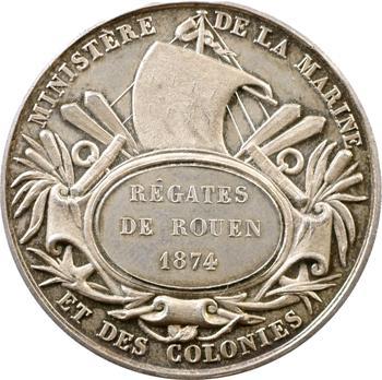 IIIe République, Ministère des Colonies, prix des régates de Rouen, 1874