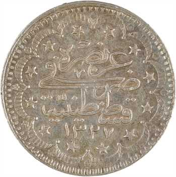 Turquie, Mohammed V, 10 kurush, AH1327/7 (1915) Constantinole