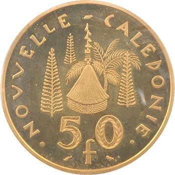 Nouvelle-Calédonie, piéfort de 50 francs en or, 1967 Paris