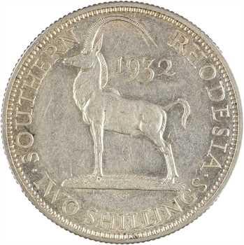 Rhodésie du sud (Zimbabwe), Georges V, 2 shillings, 1932