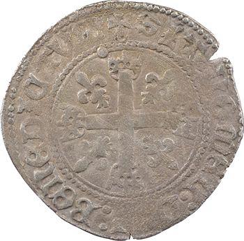Charles VIII, dizain karolus, variété de croix droite, Châlons-en-Champagne