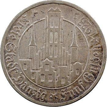 Allemagne, Dantzig (ville libre de), 5 florins, 1923 Berlin