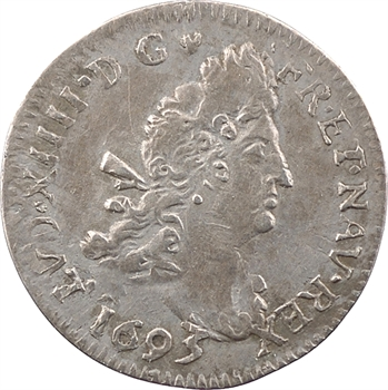 Louis XIV, quadruple sol aux deux L, 1693 Troyes