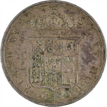 Italie, Deux-Siciles (royaume des), Ferdinand II, 120 grana, 1857 Naples