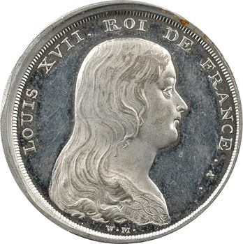 Louis XVII, médaille en étain par William Mainwaring, 1793 Angleterre