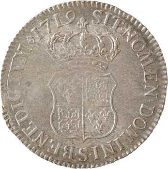 Louis XV, écu de Navarre, 1719 Reims